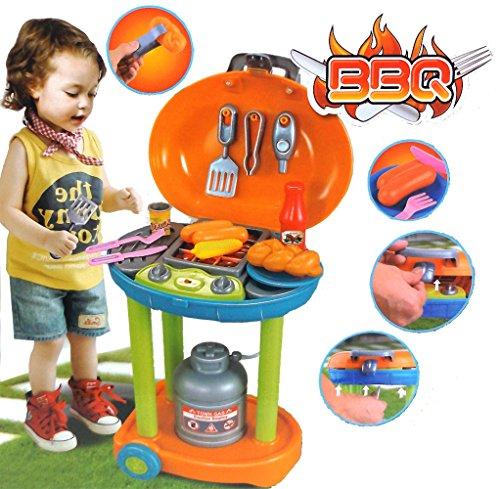 Preisvergleich Produktbild Brigamo 62022 - Spielzeug Grill Gasgrill Kindergrill mit Licht und Sound