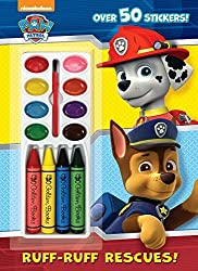 Ruff-Ruff Rescues! (Paw Patrol) (Color and Paint Plus Stickers) by Golden Books (2015-01-06)