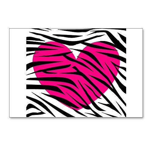 CafePress-Hot Pink Herz in Zebra Streifen Postkarten (Paket-Postkarten (Paket von 8), 15,2x 10,2cm Glossy Print Note Karte