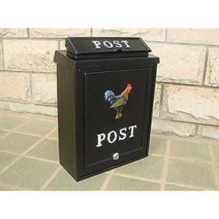 Cockerel Design Cast Aluminium Post Box