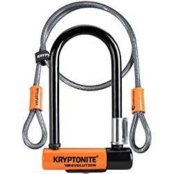 Kryptonite Evolution 7 antirrobo para adulto, Negro/Naranja