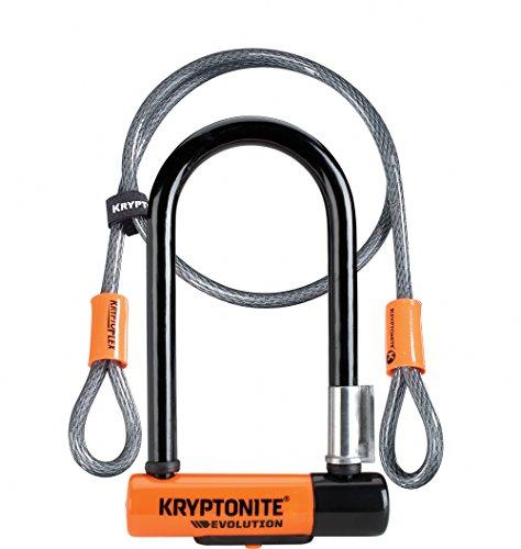Kryptonite Evolution Mini 7 Kabel Kryptoflex Verschluss, Schwarz/ Orange, One Size