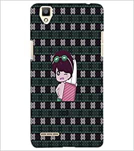 PrintDhaba Cartoon D-5781 Back Case Cover for OPPO F1 (Multi-Coloured)