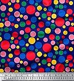 Soimoi Blau Kunstseide Stoff Polka dots Stoff drucken 1