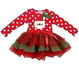 Happy Cherry - Nuevo Serie de Traje de Vestido de Velo con Papá Noel para Navidad y Año Nuevo Infántiles de Bebés Niñas 2-7 años