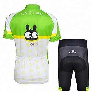 Ateid Maillot de Ciclismo y Pantalones Cortos para Niños, Conejo 7-9 AÑOS