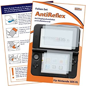 mumbi Schutzfolie kompatibel mit Nintendo 3DS XL Folie matt, Displayschutzfolie (4X)