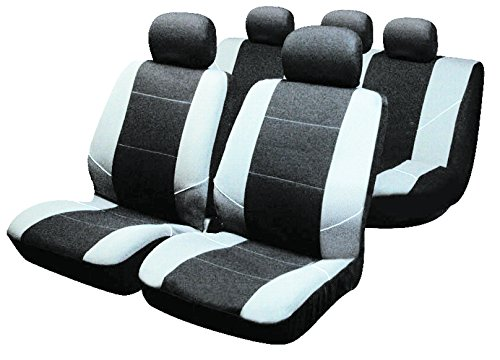 Sakura Covers, Car Seat Covers Universal Fit, Full Set, Black/Grey