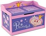 "Kindertruhenbank ""Princess"" mit intergrierter Spielzeugkiste Kinderbank Kindermöbel Holzbank Spielzeugtruhe"