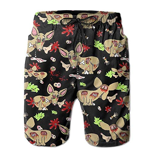 Fashion Zombie Chihuahua Dog Summer Shorts Swim Trunk Quick Dry Casual Summer Beach Shorts with Pockets XXL -