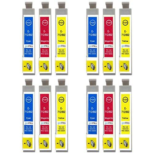 Go Inks E-715CMY cartucce d'inchiostro Tricolore (Giallo, Magenta, Ciano) per stampante  (confezione da 12)