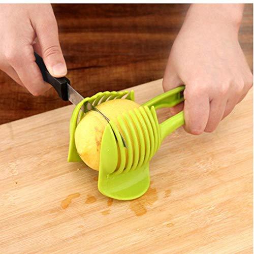 Neue Kunststoff-Tomatenschneider Cutter Ständer Lemon Shreadders Slicer, Gemüse, Obst Slicer Cutter Küchenzange Zubehör Koch