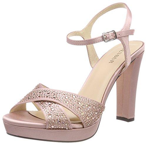 Menbur Alberazzi, Sandales Bride Cheville Femme Pink (MAKE-Up Pink)