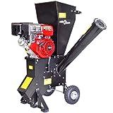 vidaXL Benzin Gartenhäcksler 15PS Häcksler Holzhäcksler 102 mm Motorhäcksler Schredder