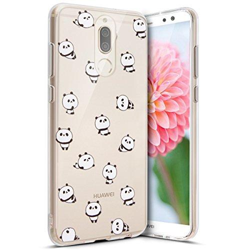 Coque Huawei Mate 10 Lite,Etui Huawei Mate 10 Lite,Surakey Impression de Motif Transparente Souple Silicone Housse Etui Coque de Protection TPU Bumper Case pour Huawei Mate 10 Lite, Panda