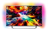 Philips 50PUS7303/12 50-Inch 4K Ultra HD Android Smart TV with HDR Plus and Ambilight 3-sided - Dark Silver (2018 Model)