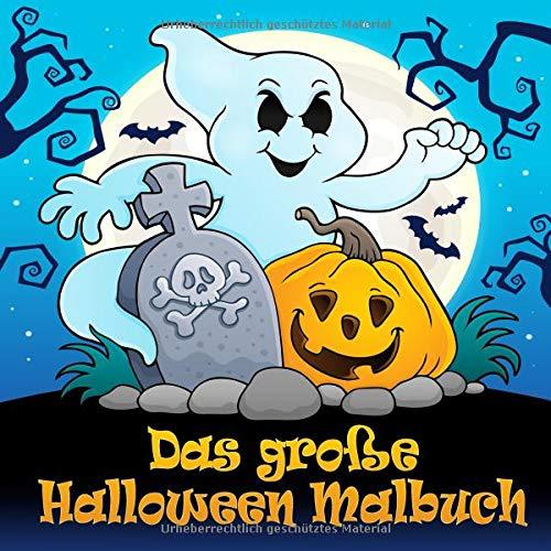 Malbuch: Lustige Halloween Motive zum Ausmalen für Kinder ab 4 Jahren und Erwachsene ()