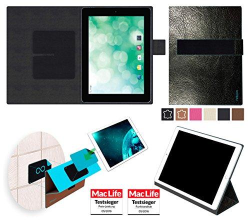 reboon Hülle für Blaupunkt Endeavour 1010 Tasche Cover Case Bumper | in Schwarz Leder | Testsieger