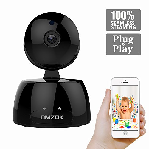 DMZOK Wireless WiFi Camera, ProHD 1080P Home Security Camera, Nanny Camera, WiFi IP Camera, Pan Tilt Zoom Night Vision Two Way Audio Motion Detection, Remote Monitoring on Mobile App