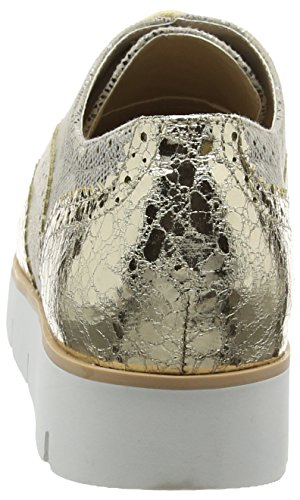 La Strada Gold/Natural Lace Up Shoe, Baskets Basses femme Or - Gold (1443 - gold)