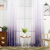 Vorhang ❤️Timogee Vorhang Tüll Fenster Behandlung Voile Drape Valance Transparent Gardinen Ösenschal Dekoschal für Wohnzimmer Schlafzimmer 1er-Pack (L x W): 200cm x 100cm (I)