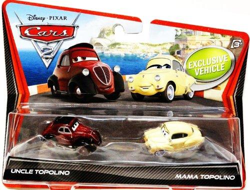 Disney Pixar Cars 2 - W6702 - Voiture Miniature - Uncle Topolino & Mama Topolino