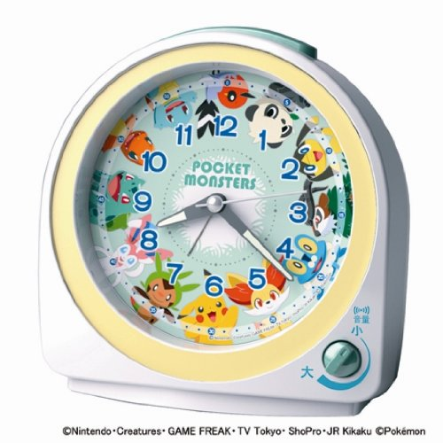 SEIKO CLOCK (Seiko-Uhr) Pokemon Wecker (weis) - Spielzeug Elektronische Pokemon