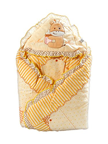 Mee Mee Baby Warm Wrapper cum Blanket with Hood (Cream)  available at amazon for Rs.839