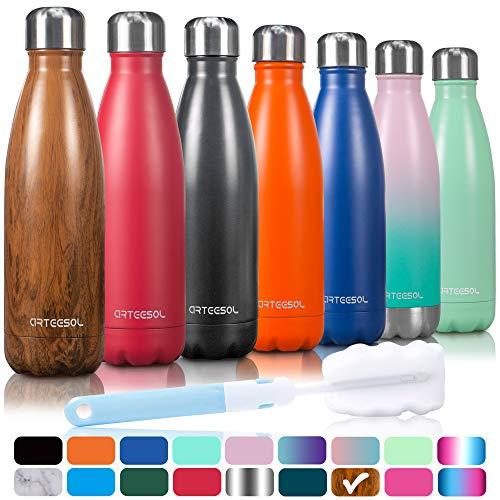 arteesol Edelstahl Trinkflasche, Sport Wasserflasche Thermoflasche Thermoskanne Water Bottle Doppelwandig Vakuum Flasche Sportflasche 500/750/1000 ml Auslaufsichere Flasche Ideale Isolierflasche