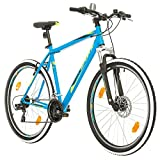 Bikesport THUNDER Bicicletta Mountain Bike Uomo 27,5', Shimano 21 cambios (Nero Opaco, L)