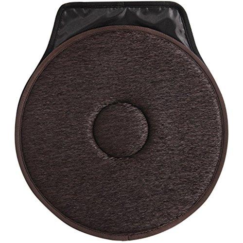 Qind Rutschfeste Kfz-Sitz Drehbare Kissen Drehgelenk, Schaumstoff Mobilität Hilfe Sitzkissen in Stuhl Krawatte auf Pad, für Zuhause, Auto, Büro
