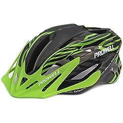 Prowell F59R Vipor F59R - Casco de ciclismo ( bicicleta ), color negro / verde, talla M