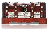 Generic * Asure petto legno metallo Treas Storage box pirata T forziere dei pirati ST STOR Toy Gift Play Game Play Game vintage bambino T Play Game