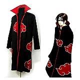 Sunkee Japanischen Anime Cosplay Naruto Akatsuki Ninja Uniform / Mantel, Größe L: Höhe 169cm-176cm