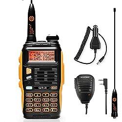 Baofeng GT-3 Dualband VHF/UHF Handfunkgerät Sprechfunkgerät Amateurfunk LCD Display Walkie Talkie PMR CTCSS/CDCSS mit Mikrofon