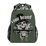 DEZIRO Skull Your Brand School pack weaving Backpacks