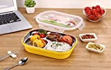 FWQPRA Children lunch tray Dishs boxes Stainless steel children Dining utensils Lunchbox Portable Picnic Food container for fruit storage Dining utensils