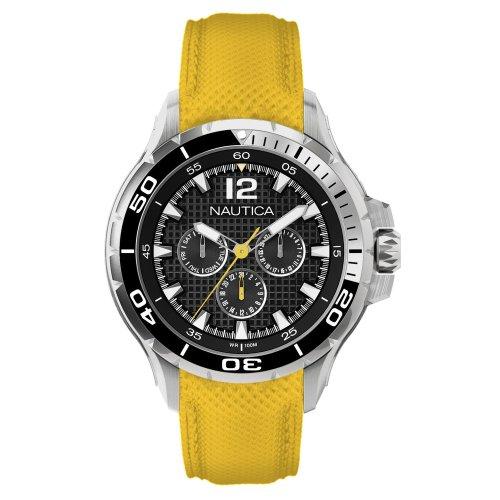 Nautica Uhr, Lederband (ArtNr - Nautica Gelb Watch