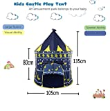 #6: Play House - Indoor & Outdoor Castle Play Tent - Foldable Tent with Carry Bag - Perfect for Girl's Boy's Kids Gifts - Playhouse, Play Hut by KARP - Dark Blue Color