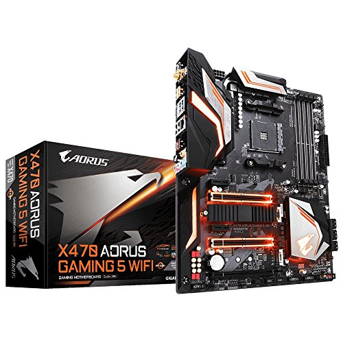 Gigabyte X470 AORUS Gaming 5 WiFi Mainbord - Gigabyte Mainboard Gaming