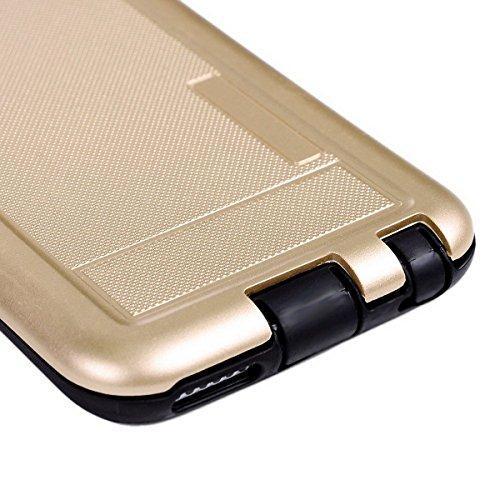GrandEver iPhone 6/iPhone 6S Weiche Silikon Hülle Rückschale TPU Bumper Schutzhülle Handytasche Anti-Kratzer Stoßdämpfung Silicon Backcover Soft Case Protective Cover Ultradünnen Premium Handyhülle Gold