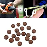e5e10 10 mm Slingshot Perlen Bearing Mud Softair Slingshot Munition Massiv Clay Bälle Eier für die Jagd und Shooting, 500pcs
