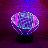 Double-Two-Colored American Football Sport Rugby Soccer Led 7 Colori Night Light Booter Bambino Baby Bambini Compleanno