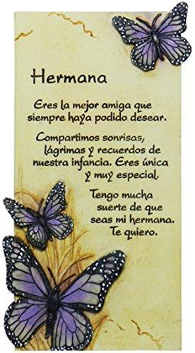 PERGAMINO DE PIEDRA LABRADA CON TEXTOS PARA OCASIONES ESPECIALES, IDEAL PARA REGALO ORIGINAL Y ECONÓMICO. ESPECIAL HERMANA
