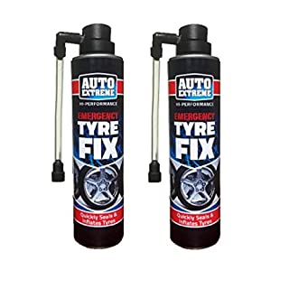 2 X 300ml Quick Fix Car Flat Tyres Repair Foam Seals Inflate Puncture Bike Cycle