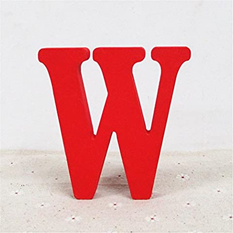 Igemy A- en bois et Commentaire négatif lettres Rouge lettres de l'alphabet Mariage Fête d'anniversaire décorations d'intérieur W