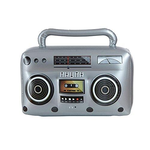 Widmann 04818 - Aufblasbarer Hip Hop Radio mit Griff, Sonstige Spielwaren