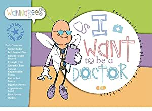 Pretend Doctor Play Set For Imaginative Play Includes Stickers, Eyesight Chart, End of Bed Notes, and More