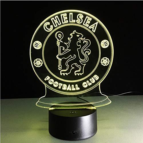 Led Chelsea Football Club 3D Led Nachtlicht Kreative Elektrische Illusion Lampe 7 Farben Ändern Usb Touch Schreibtischlampe -