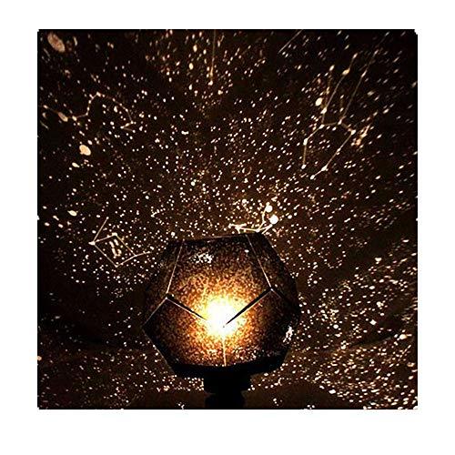 Oksea Projektor Sternenhimmel Licht Romantische Planetarium Sterne Projektor Cosmos Light Night Sky Lampe Kindergeschenk Schlafzimmerbeleuchtung (Schwarz)
